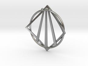 Awen Bard Pendant in Natural Silver