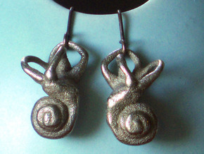 Inner Ear / Cochlea Earring Pair (left & right) in Stainless Steel