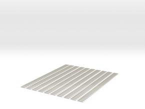 10 X Schwellenjoch Ni 158mm  3mm Spur in White Acrylic