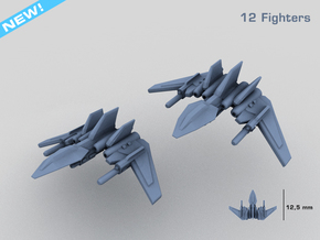 HOMEFLEET Heavy Fighter Group in Smooth Fine Detail Plastic