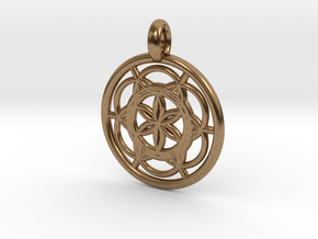 Sinope pendant in Natural Brass