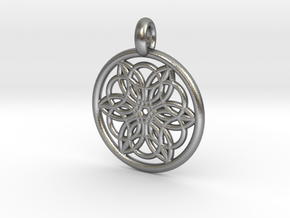 Pasiphae pendant in Natural Silver