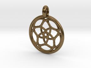 Himalia pendant in Natural Bronze