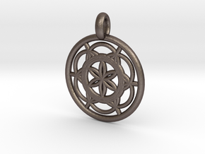 Sinope pendant in Polished Bronzed Silver Steel