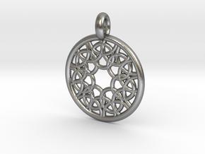 Elara pendant in Natural Silver