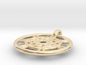 Harpalyke pendant in 14K Yellow Gold