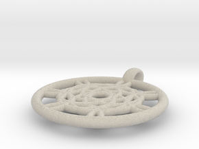 Harpalyke pendant in Natural Sandstone
