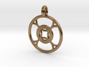 Leda pendant in Natural Brass
