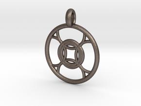 Leda pendant in Polished Bronzed Silver Steel