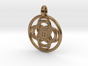 Thebe pendant in Natural Brass
