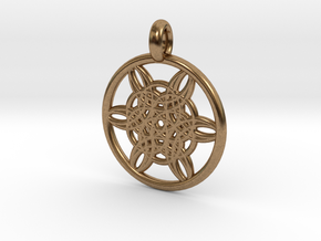 Helike pendant in Natural Brass