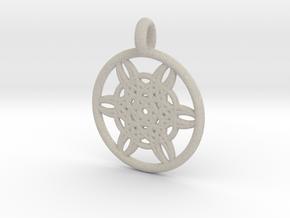 Helike pendant in Natural Sandstone