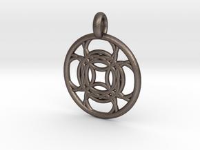 Kallichore pendant in Polished Bronzed Silver Steel