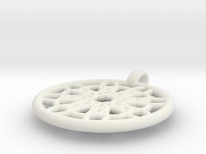 Mneme pendant in White Natural Versatile Plastic