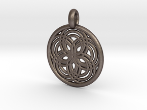 Carpo pendant in Polished Bronzed Silver Steel