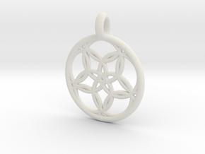 Hegemone pendant in White Natural Versatile Plastic