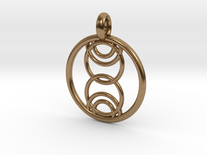Kore pendant in Natural Brass