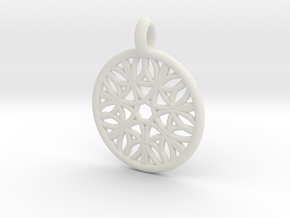 Cyllene pendant in White Natural Versatile Plastic