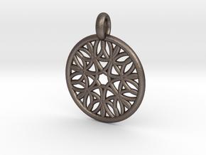 Cyllene pendant in Polished Bronzed Silver Steel