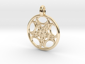 Euanthe pendant in 14K Yellow Gold