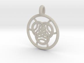Praxidike pendant in Natural Sandstone