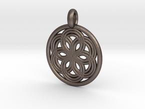 Thyone pendant in Polished Bronzed Silver Steel