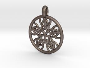 Isonoe pendant in Polished Bronzed Silver Steel