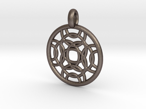 Erinome pendant in Polished Bronzed Silver Steel