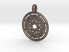 Hermippe pendant in Polished Bronzed Silver Steel