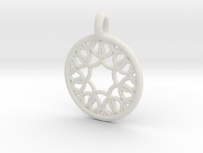Eurydome pendant in White Natural Versatile Plastic