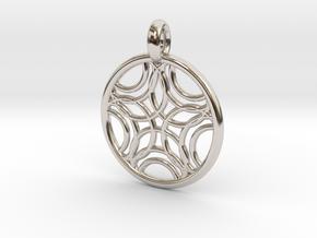Sponde pendant in Platinum