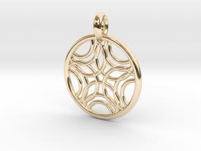 Sponde pendant in 14K Yellow Gold