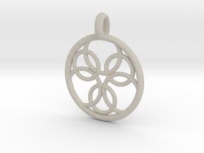 Pasithee pendant in Natural Sandstone