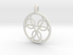 Pasithee pendant in White Natural Versatile Plastic