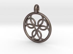 Pasithee pendant in Polished Bronzed Silver Steel