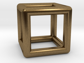 Hexahedron (Cube) in Natural Bronze