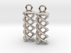 Triple Helix Earrings in Platinum