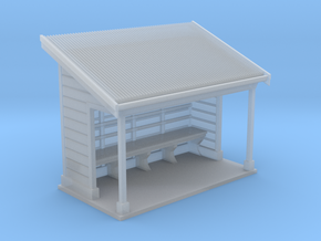 NSW Tramways Waiting Shed Design 01 in Smooth Fine Detail Plastic