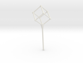 Cube bubble wand in White Strong & Flexible