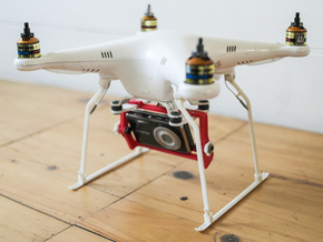 DJI Phantom Widened Foldable legs V2.5 in White Strong & Flexible