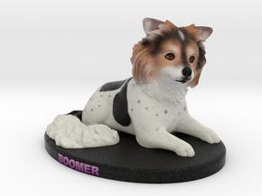 Custom Dog Figurine - Boomer in Full Color Sandstone