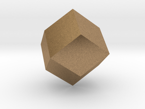 rhombic dodecahedron in Natural Brass