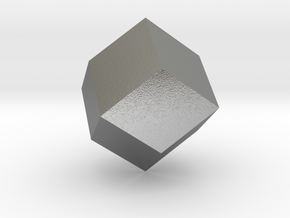 rhombic dodecahedron in Natural Silver