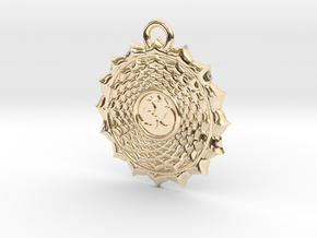 Crown Chakra in 14K Yellow Gold