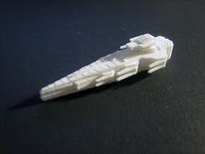 Rascal class - battle frigate in White Natural Versatile Plastic