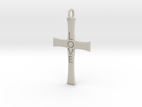Cross Pendant in Natural Sandstone