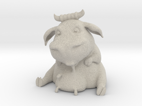 Olga the Thirsty Cow in Natural Sandstone