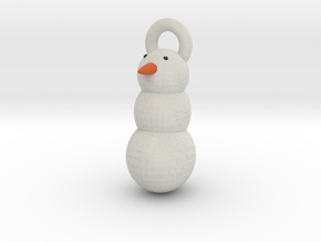 Snow Man christmas tree decoration in Full Color Sandstone