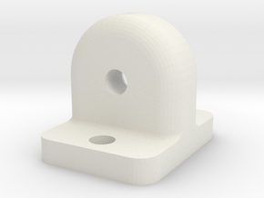 Bearing Support single for 2x5x2.5mm in White Natural Versatile Plastic