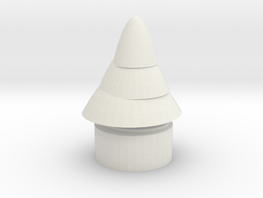 Chrismas Tree in White Natural Versatile Plastic